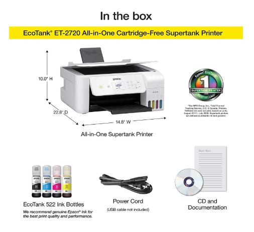 Epson Ecotank Et 2720 Wireless Printer Reviews Ralph